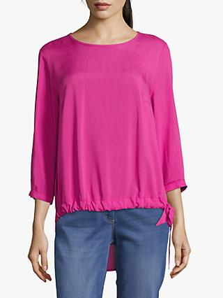 Betty Barclay Tie Trim Blouse, Raspberry Rose