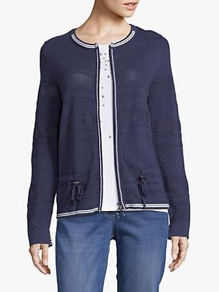 Betty Barclay Fine Textured Knit Cardigan, Peacoat Blue