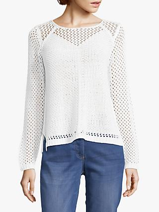 Betty Barclay Crochet Knit Jumper, Bright White