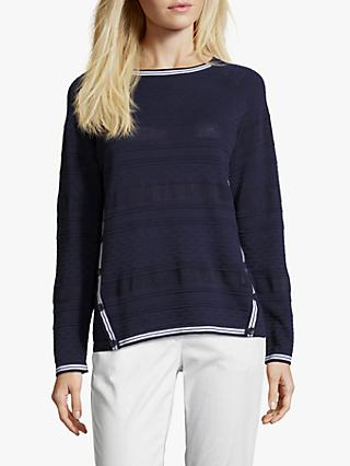 Betty Barclay Fine Textured Knit Jumper, Peacoat Blue