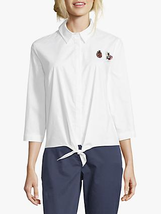 Betty Barclay Bug Brooch Shirt, Bright White