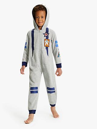 90e35f2b5 John Lewis & Partners Boys' Astronaut Onesie, Light Grey
