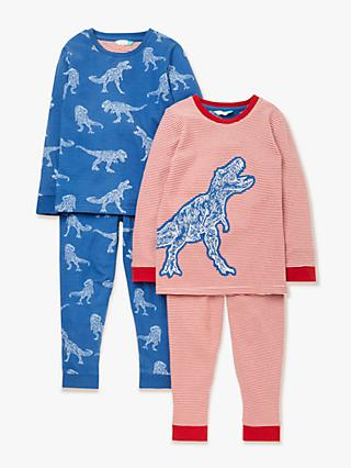2f3f8214cb John Lewis & Partners Boys' Dinosaur Applique Pyjamas, Pack of 2, ...