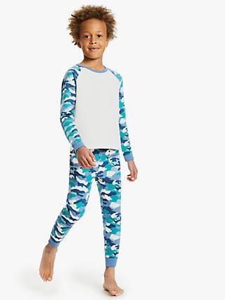 fde6fa621ecb4 John Lewis & Partners Boys' Camouflage Print Pyjamas, Green