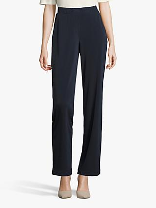 Betty Barclay Wide Leg Trousers, Dark Sky