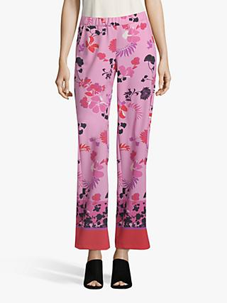 Betty Barclay Floral Print Trousers, Rosé/Multi