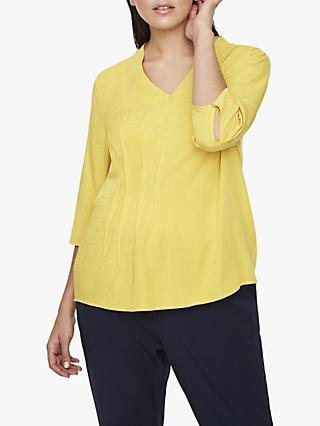 I.Scenery Curve Billa Blouse, Yellow