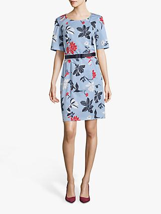 Betty Barclay Floral Print Shift Dress, Blue/Multi