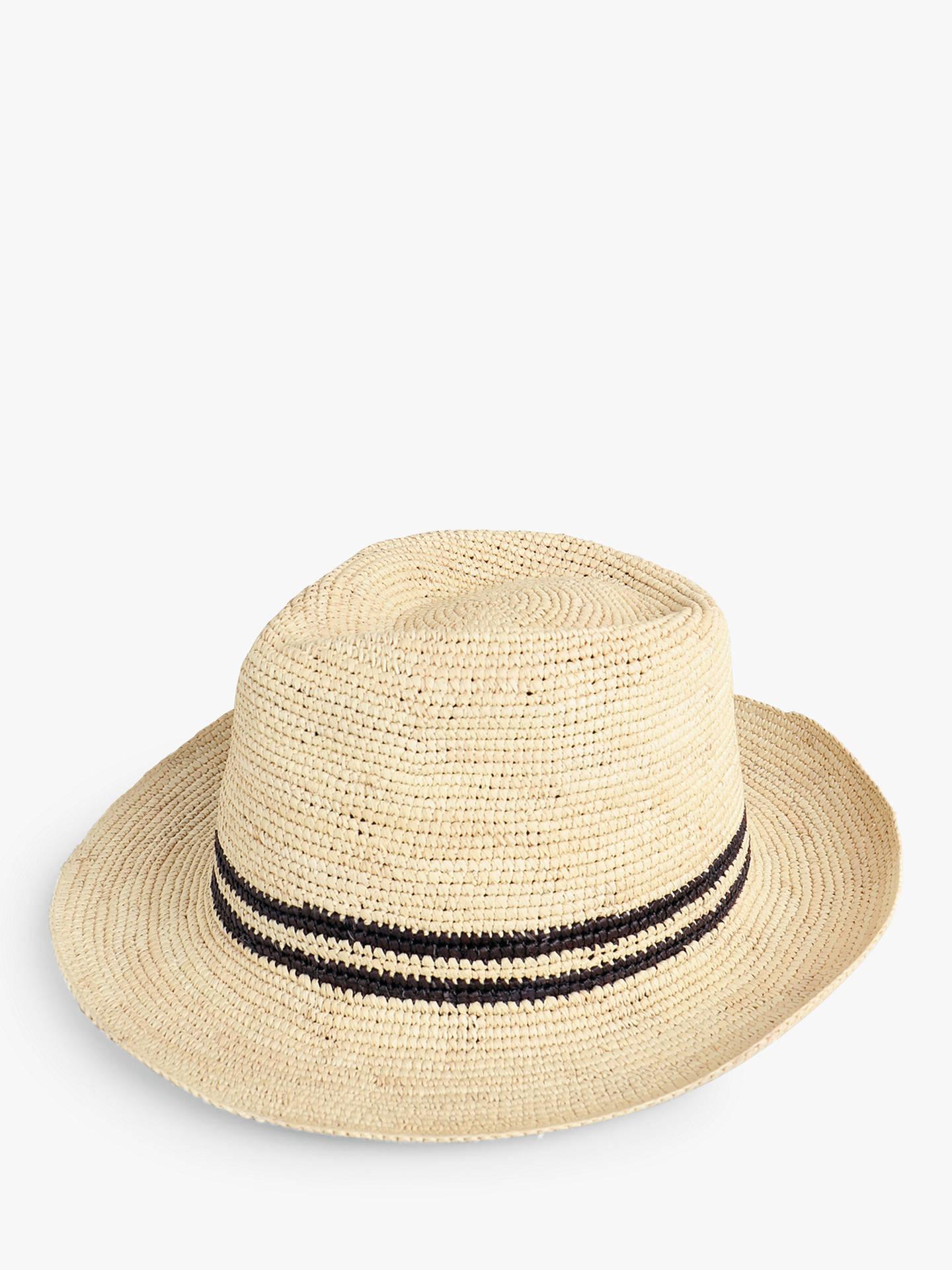 3c24c1f68 hush Crochet Panama Hat, Natural at John Lewis & Partners