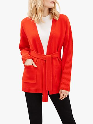 Jaeger Chunky Cardigan, Red