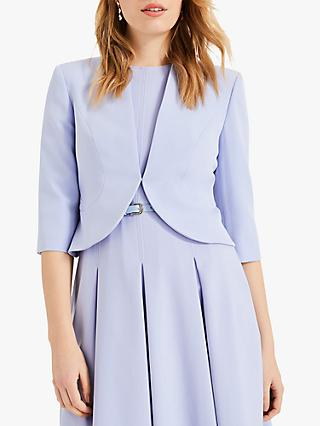 Phase Eight Tammy Fitted Jacket, Dusty Blue