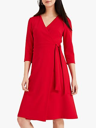 Phase Eight Theola Jersey Wrap Dress, Crimson