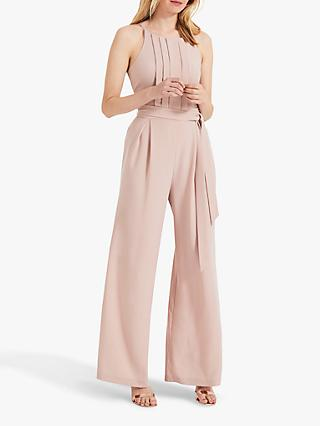 Phase Eight Yvonne Lace Back Jumpsuit, Dusty Rose