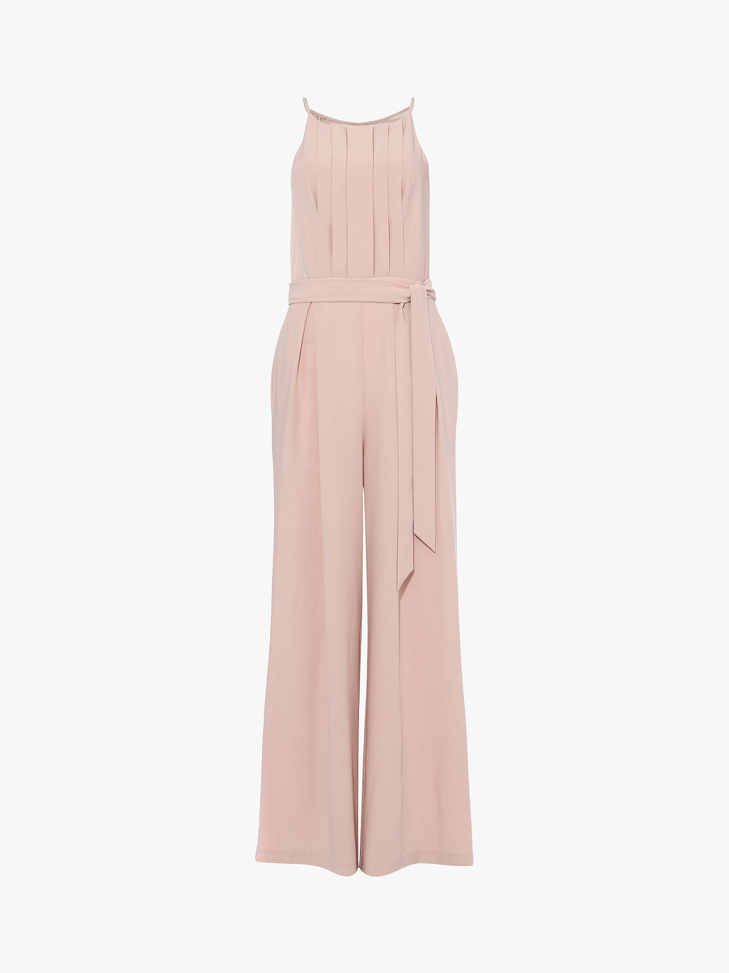 Buy Phase Eight Yvonne Lace Back Jumpsuit, Dusty Rose, 16 Online at johnlewis.com