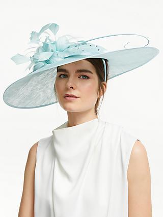 89d06ef7f421ad John Lewis & Partners Elle Floral Down Brim Disc Occasion Hat