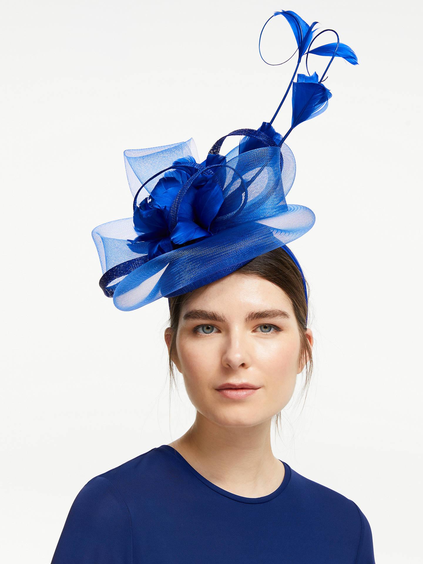 7b6d5706f1835 Buy John Lewis & Partners Sofia Mesh Swirl Floral Fascinator, Cobalt Online  at johnlewis.