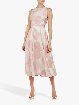 Ted Baker Wylieh Floral Jacquard Midi Dress