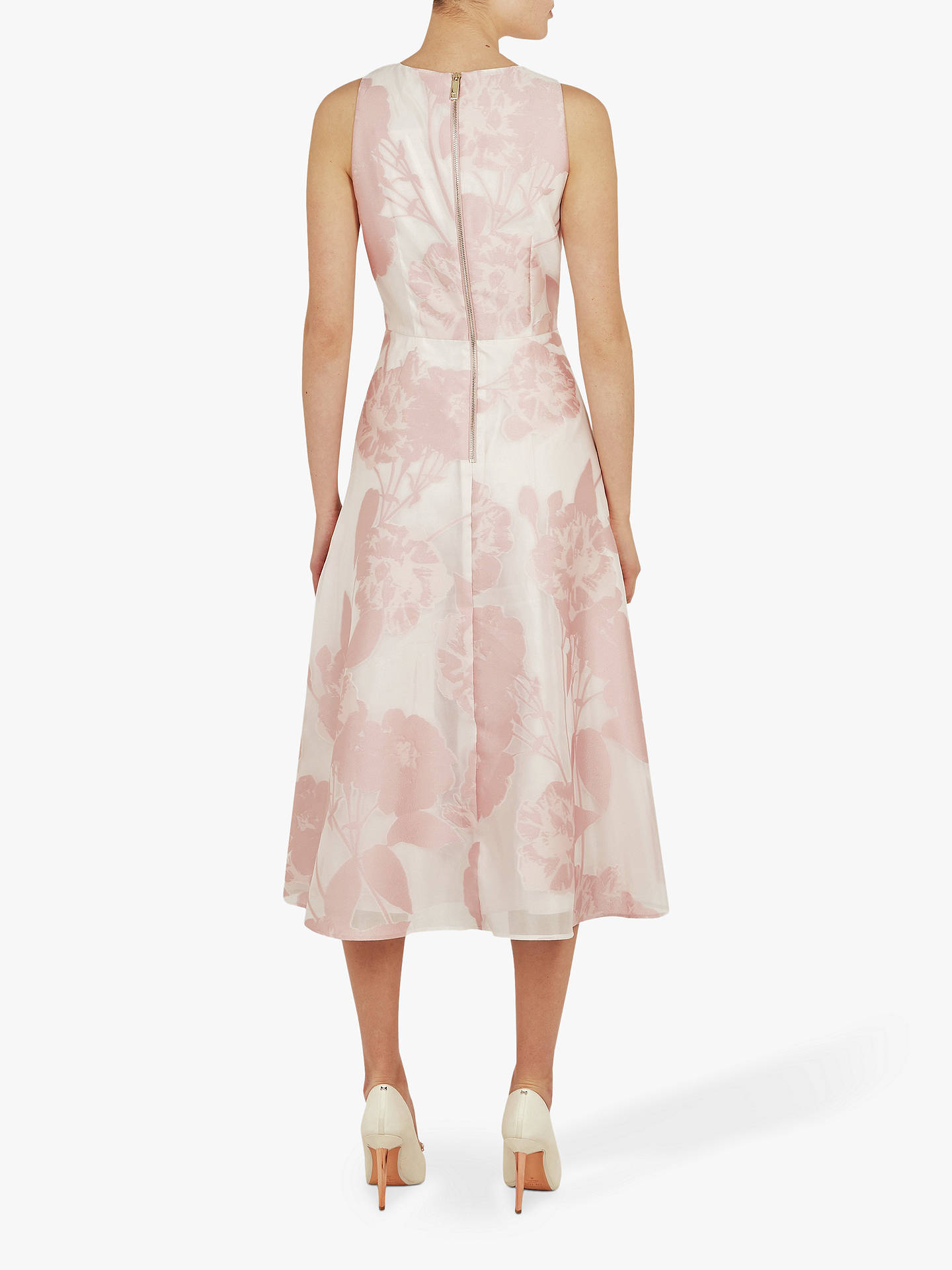 c70b346c693c ... Buy Ted Baker Wylieh Floral Jacquard Midi Dress, Light Pink, L Online  at johnlewis ...