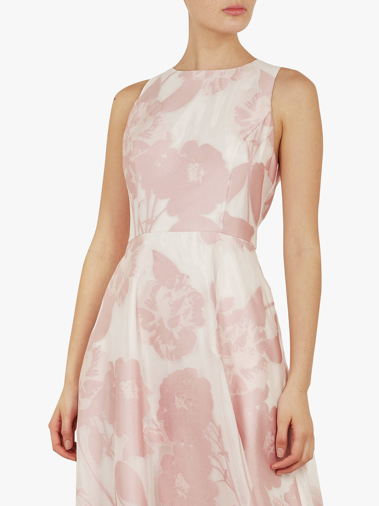 97d1d51ff671 ... Buy Ted Baker Wylieh Floral Jacquard Midi Dress, Light Pink, L Online  at johnlewis