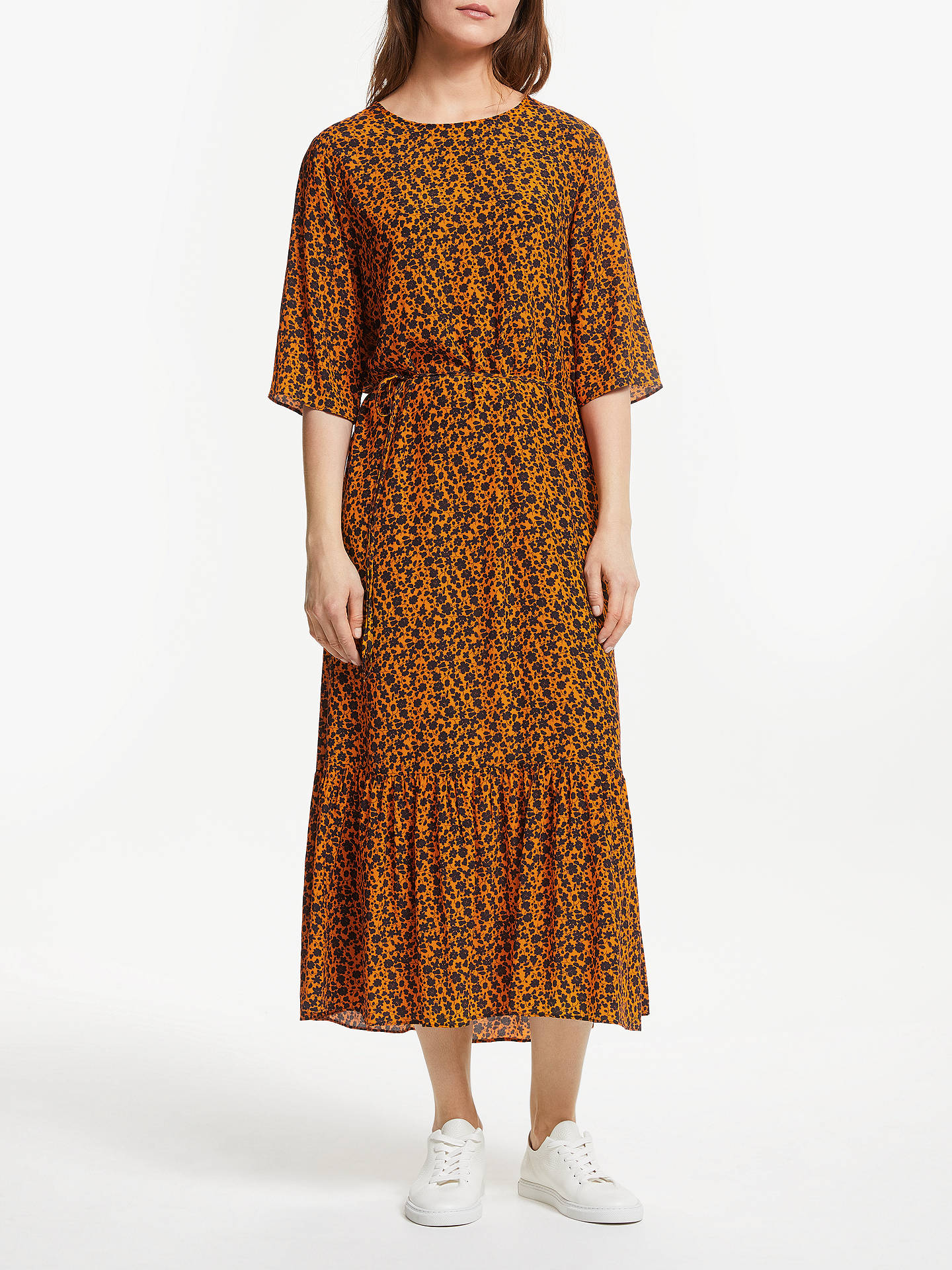 dca6e7755ae3f Just Female Kari Maxi Dress, Orange Flower at John Lewis & Partners