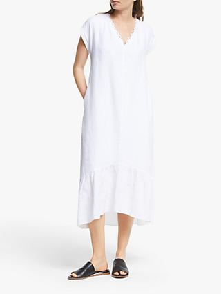 Modern Rarity Loop Trim Linen Dress