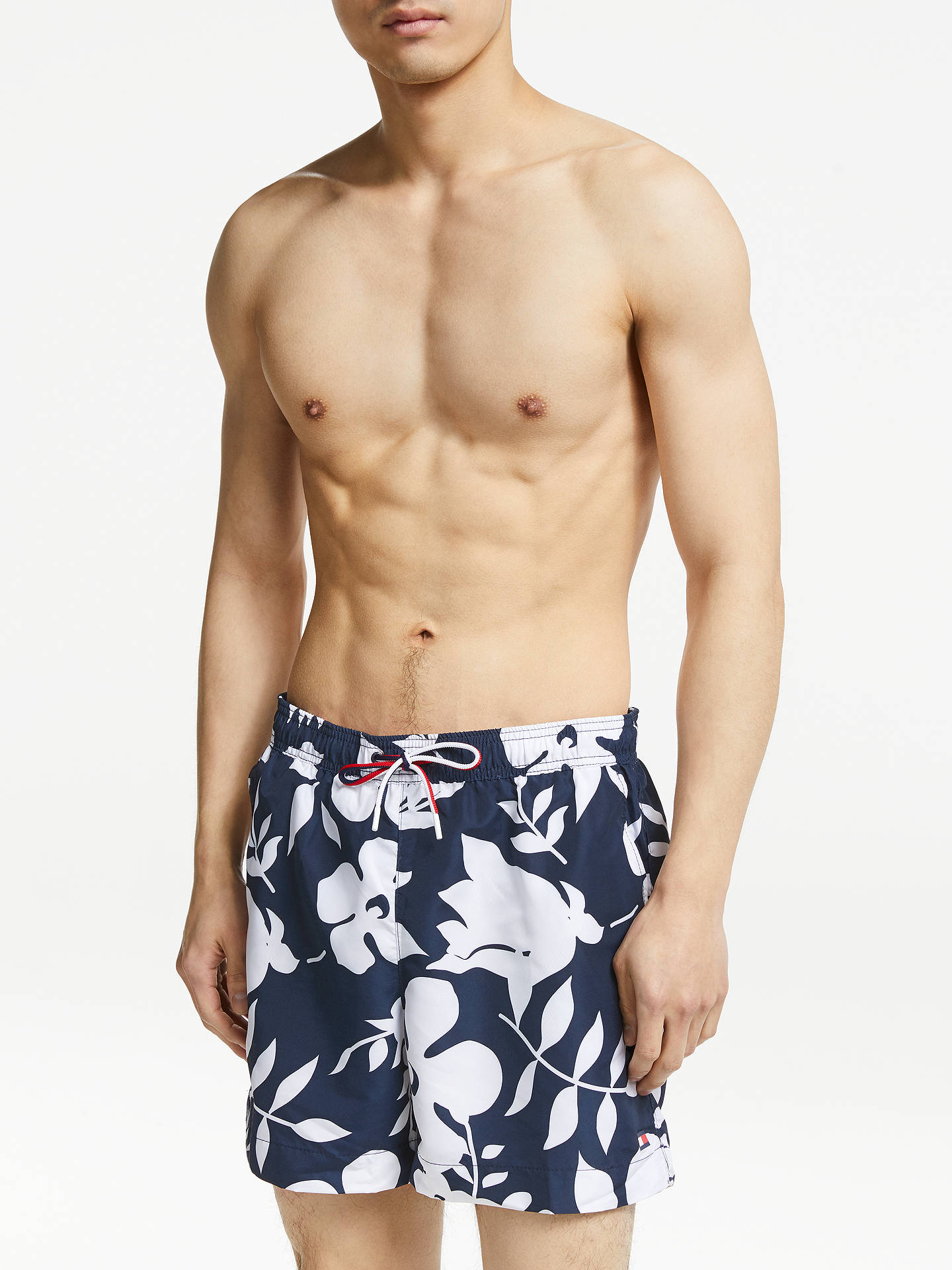 c3e1dc4d3a Buy Tommy Hilfiger Flower Print Print Swim Shorts, Blue, M Online at  johnlewis.