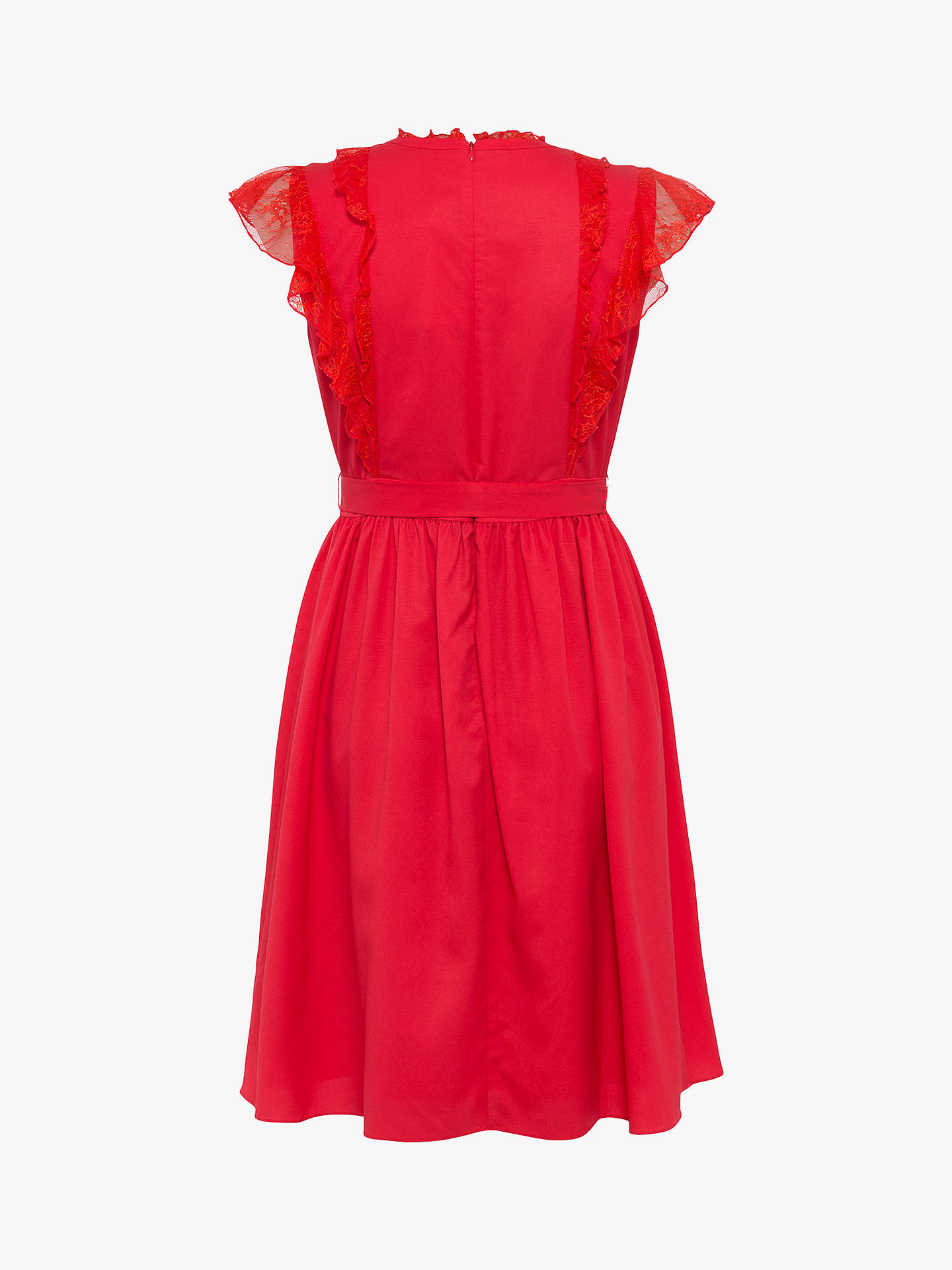 Buy French Connection Eva Dress, Fire Coral, XS Online at johnlewis.com