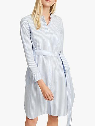 French Connection Leondra Stripe Dress, Blue/White