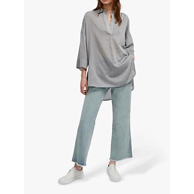 French Connection Jacinda Pop Over Shirt, Slate
