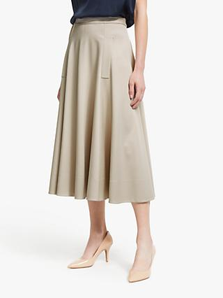 Winser London Midi Full Circle Skirt, Stone