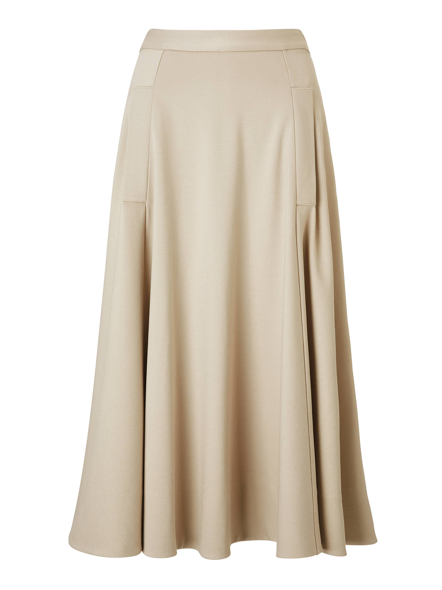 Buy Winser London Midi Full Circle Skirt, Stone, 14 Online at johnlewis.com