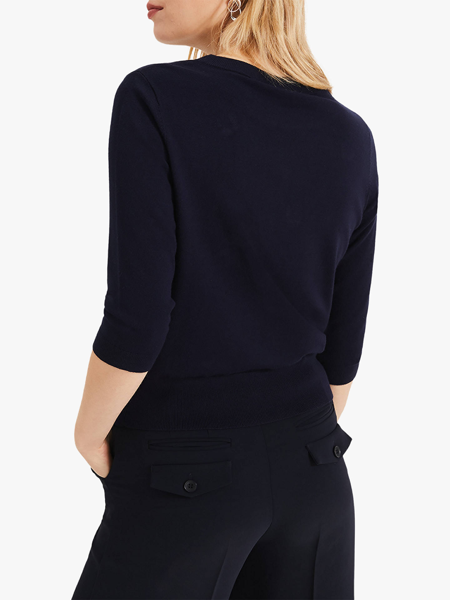 Buy Phase Eight Bayleigh Bumblebee Knit Jumper, Navy, 12 Online at johnlewis.com