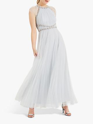 Phase Eight Gerona Embellished Dress, Ice Blue