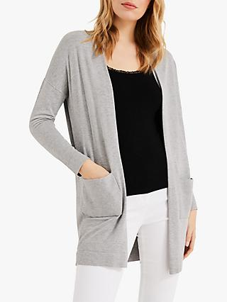 Phase Eight Sonya Longline Cardigan, Grey Marl