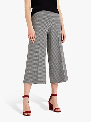 Phase Eight Lenka Dog Tooth Culottes, Black/White