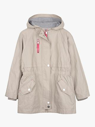 Mintie by Mint Velvet Girls' Chalk Stripe Parka Coat, Neutral