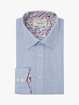 Ted Baker Brickma Geometric Floral Shirt, Blue