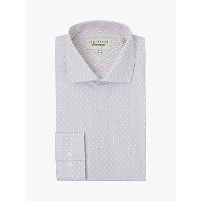 Image of Reiss Castmed Diamond Print Shirt, Blue