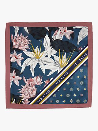 aa9ed4e7408a2 Ted Baker Afton Floral Geo Print Silk Pocket Square, Blue