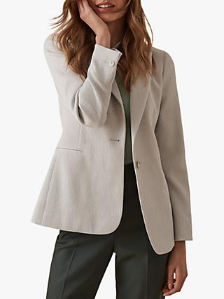 Reiss Neya Textured Tailored Blazer