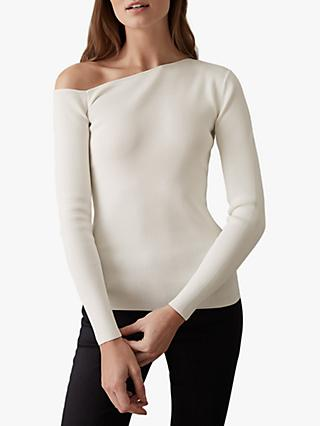 Reiss Anisa Knitted Asymmetric Top