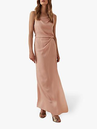 Reiss Ostia One Shoulder Maxi Dress