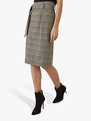 Reiss Connie Checked Skirt, Multi