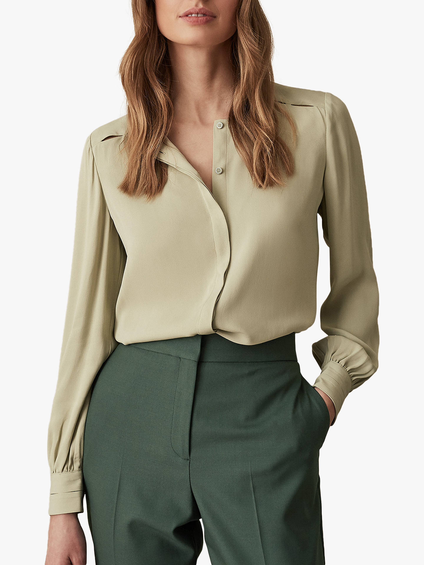 705e5be35 Buy Reiss Noya Cut Out Detail Blouse