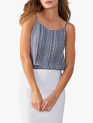 Pure Collection V-Neck Camisole, Tile Print