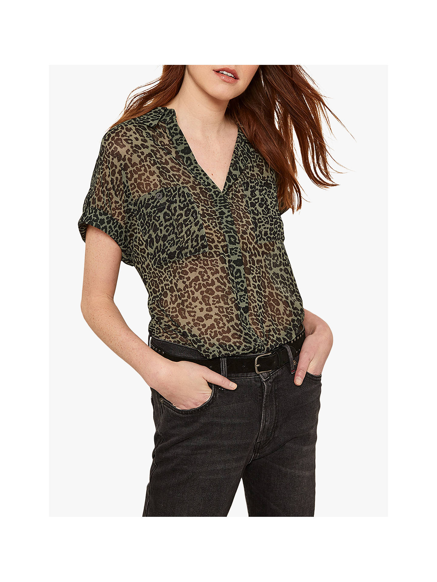 592479b8b92db Buy Mint Velvet Philippa Animal Print Shirt, Multi, 6 Online at  johnlewis.com ...