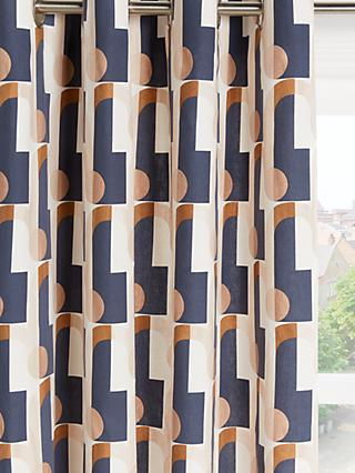 John Lewis & Partners Arcade Pair Lined Eyelet Curtains