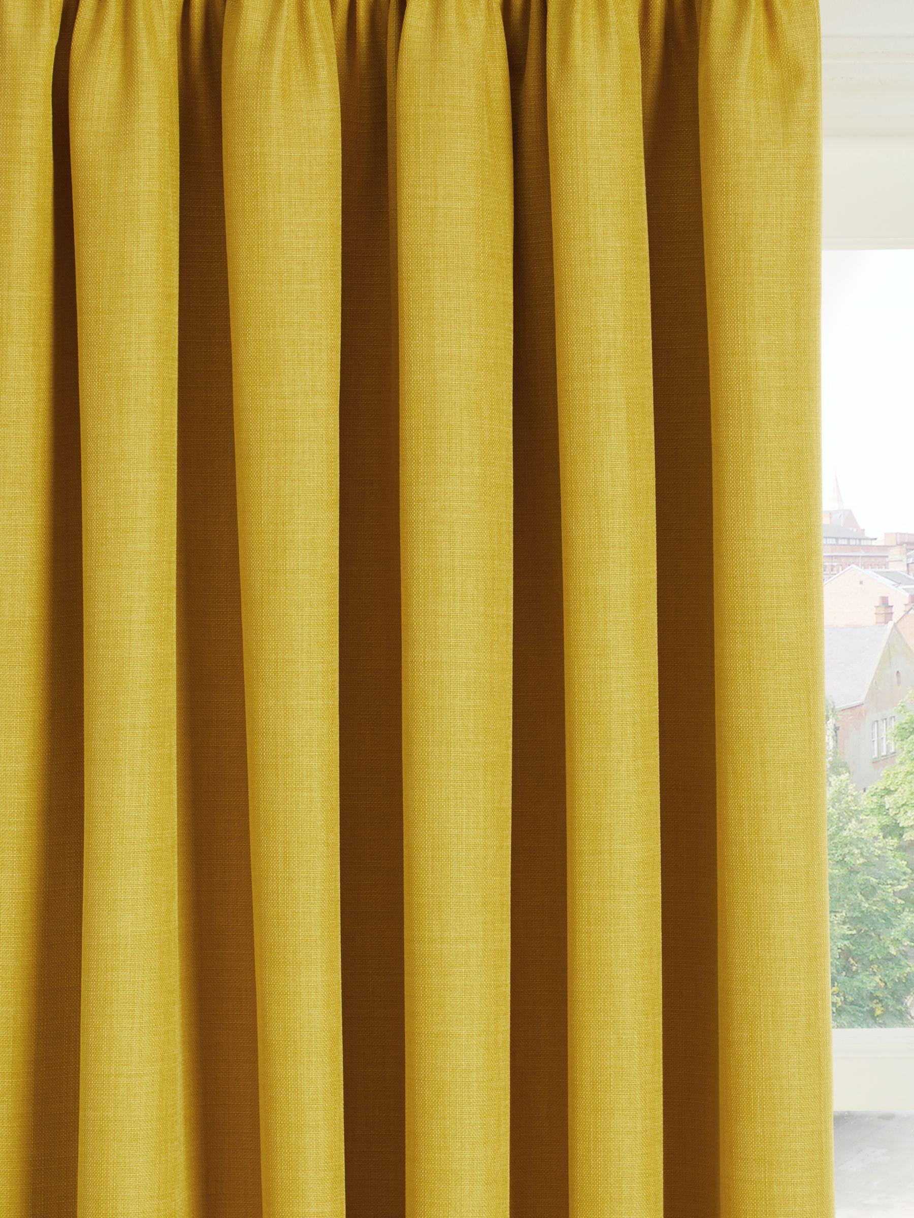 John Lewis & Partners Barathea Pair Blackout Lined Pencil Pleat Curtains