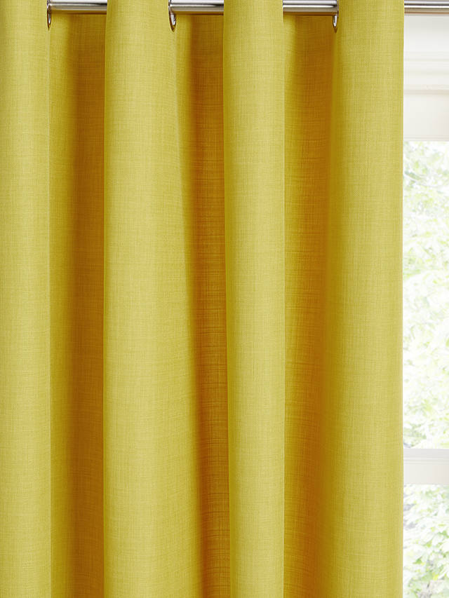 Buy John Lewis & Partners Barathea Pair Lined Eyelet Curtains, Citrine, W117 x Drop 137cm Online at johnlewis.com