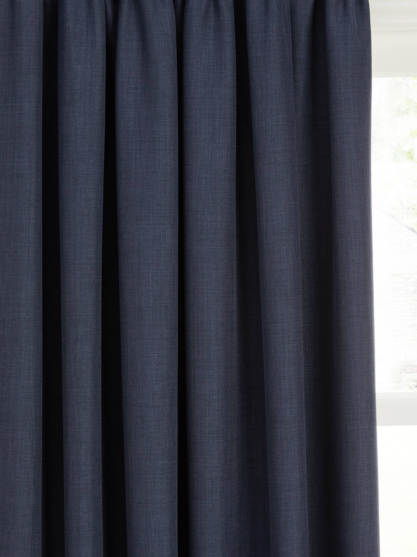Buy John Lewis & Partners Barathea Pair Blackout Lined Pencil Pleat Curtains, Navy, W167 x Drop 228cm Online at johnlewis.com